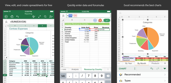Excel for iPhone